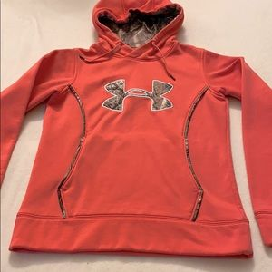 Under Armour pink & cameo hoodie
